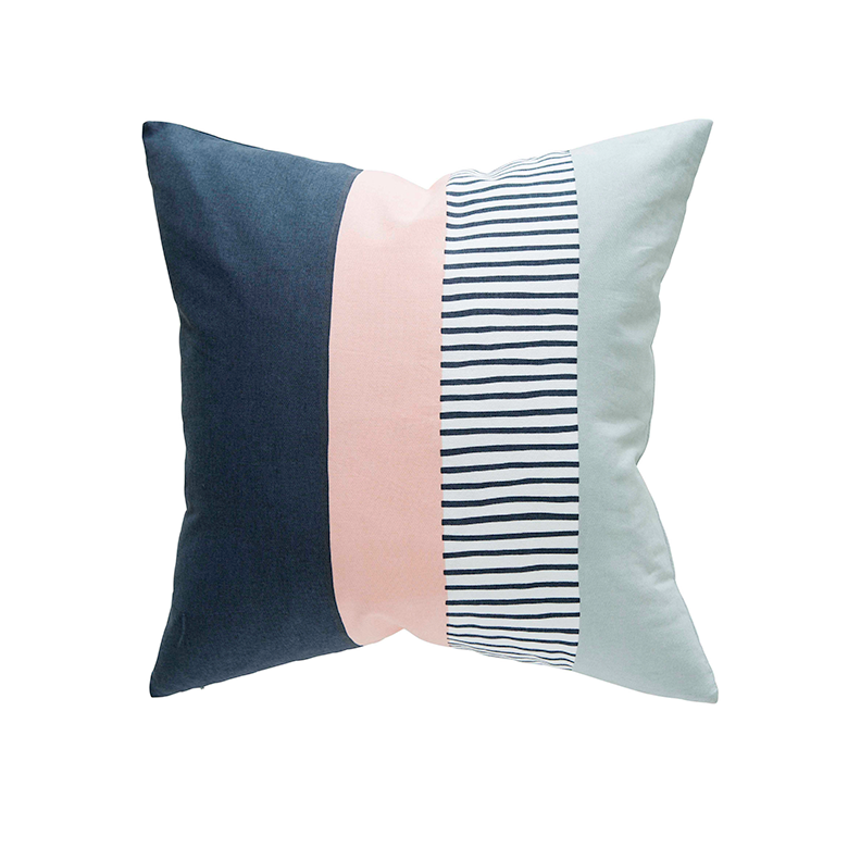 Blush Block Cushion