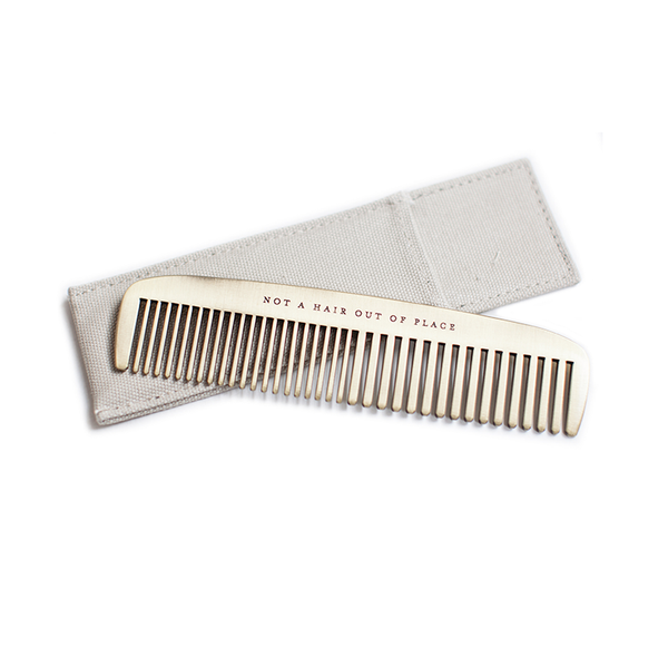 Brass Comb | 'Not a Hair Out of Place'