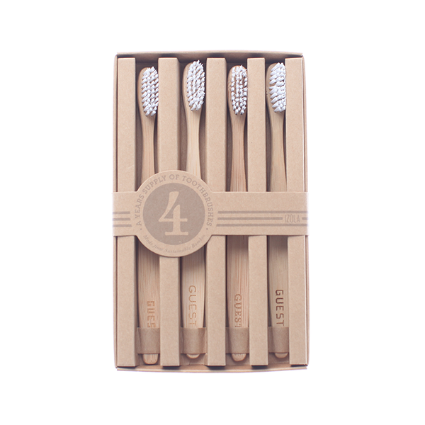 Bamboo Guest Toothbrush Set