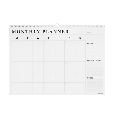 A2 Monthly Wall Planner