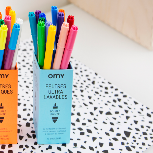 OMY France ~ Ultra Washable Felt Pens | 16
