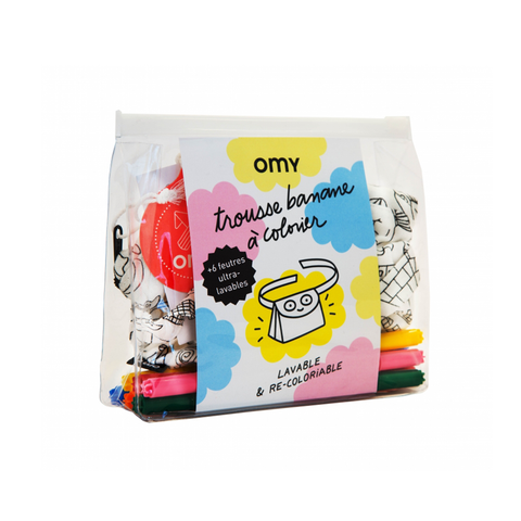 OMY France ~ Bum Bag Colouring Kit