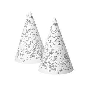 OMY France ~ Colouring In Party Hats | 8