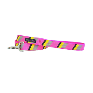Dog Lead | Pink & Grey Stripes