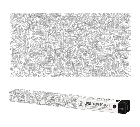 OMY France ~ Giant Colouring Roll XXL | Paris