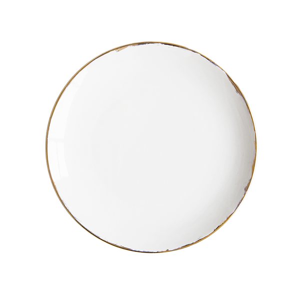 Gold Gilded Stone Dinner Plate