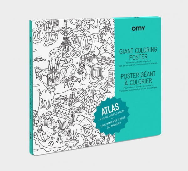 OMY France ~ Giant Colouring Poster | Atlas