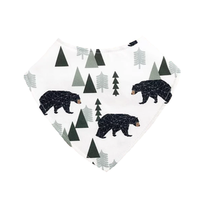 Dribble Bib | Bears & Trees