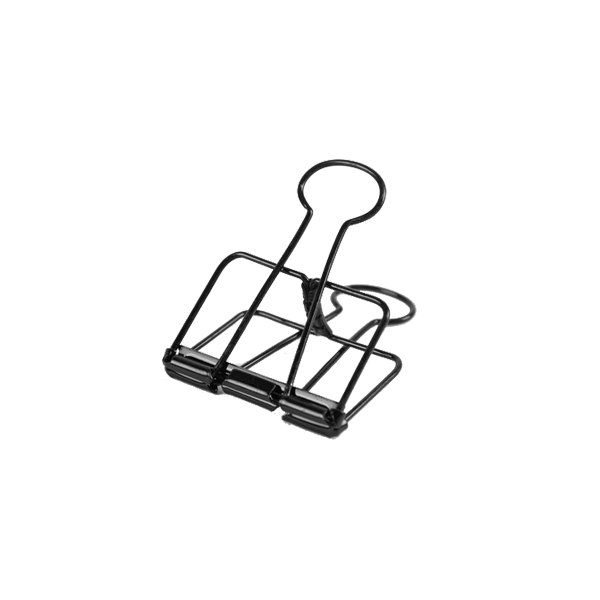 Black Bulldog Clips - Large | Pack of 3