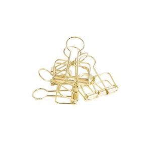 Gold Bulldog Clips - Small | Pack of 6