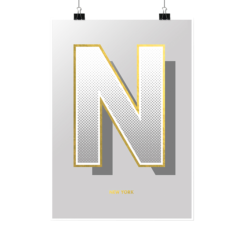 Gold Foiled Print | 'New York'