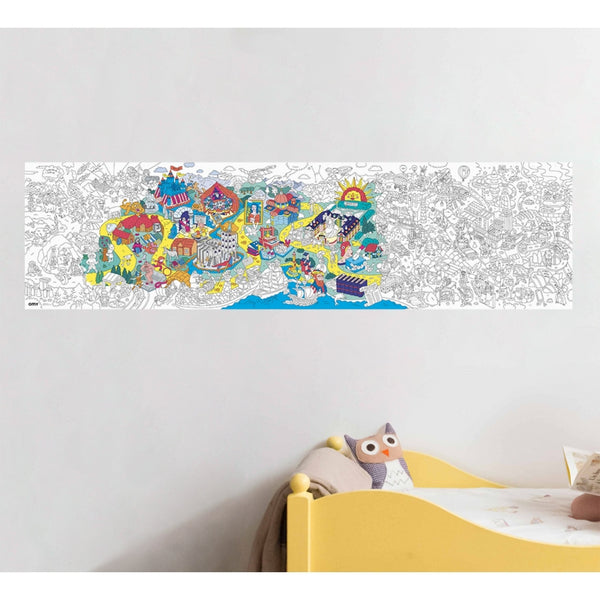 OMY France ~ Giant Panoramic Colouring Poster | History