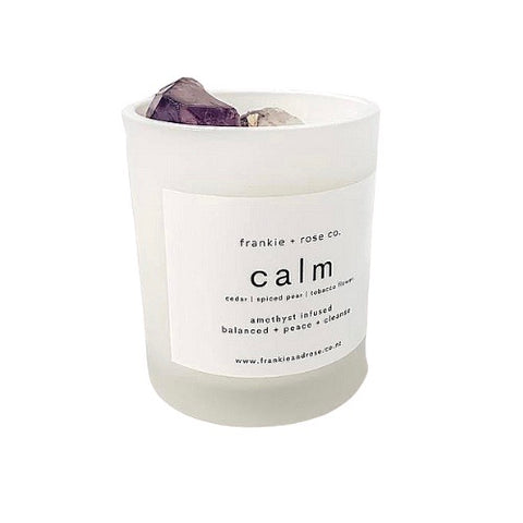 Crystal Infused Candle | CALM - Amethyst
