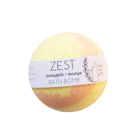 Bath Bomb | Zest ~ Pineapple + Mango