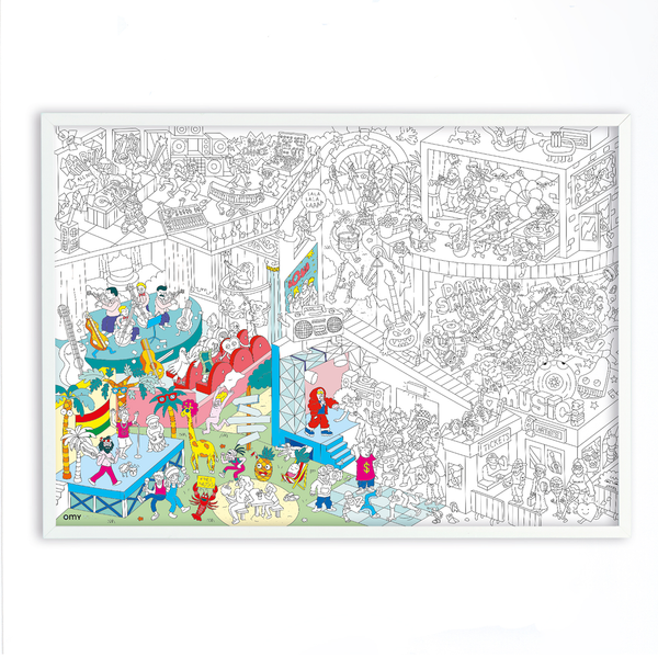 OMY France ~ Giant Colouring Poster | Music