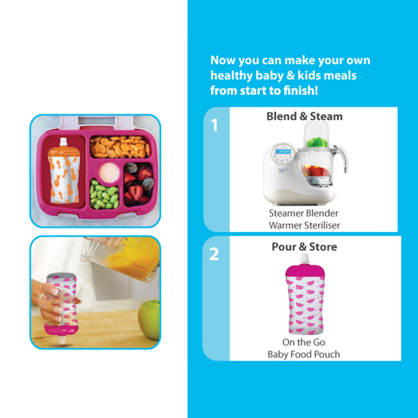 Reusable Baby Food Pouches | Neon Melon + Hot Pineapple