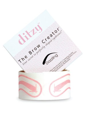 "Press on Hands Free Eyebrow Stencils in ""Dazzling"" brow shape.  A medium/rounded arch  Hands Free Gentle Press-on Eyebrow Stencils that leave no residue"