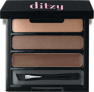 Instantly create the illusion of fuller, thicker brows that look like your own eyebrow hair and not a drawn on penciled look.   Palette includes two brow powders for blending that are infused with micronized fibers to simulate hair. Universal Colors