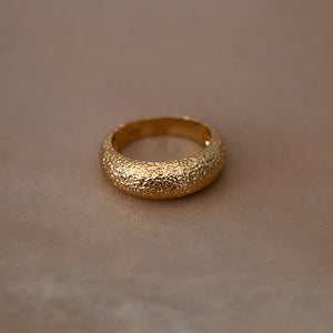 THIN Antique Dome Ring 18K Gold Plated