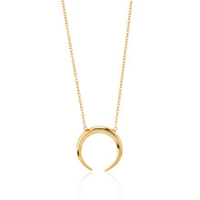 Luna Crescent Moon Necklace 18K Gold Vermeil