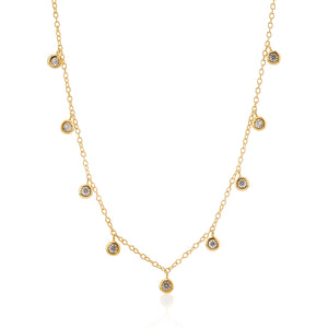 'Drip' Crystal Choker Necklace 18K Gold Vermeil