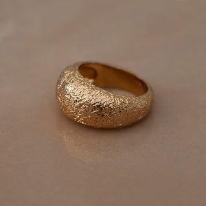 Antique Dome Ring 18K Gold Plated