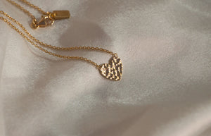 *AVAILABLE FOR PRE ORDER* Hammered Heart Necklace 18K Gold Vermeil