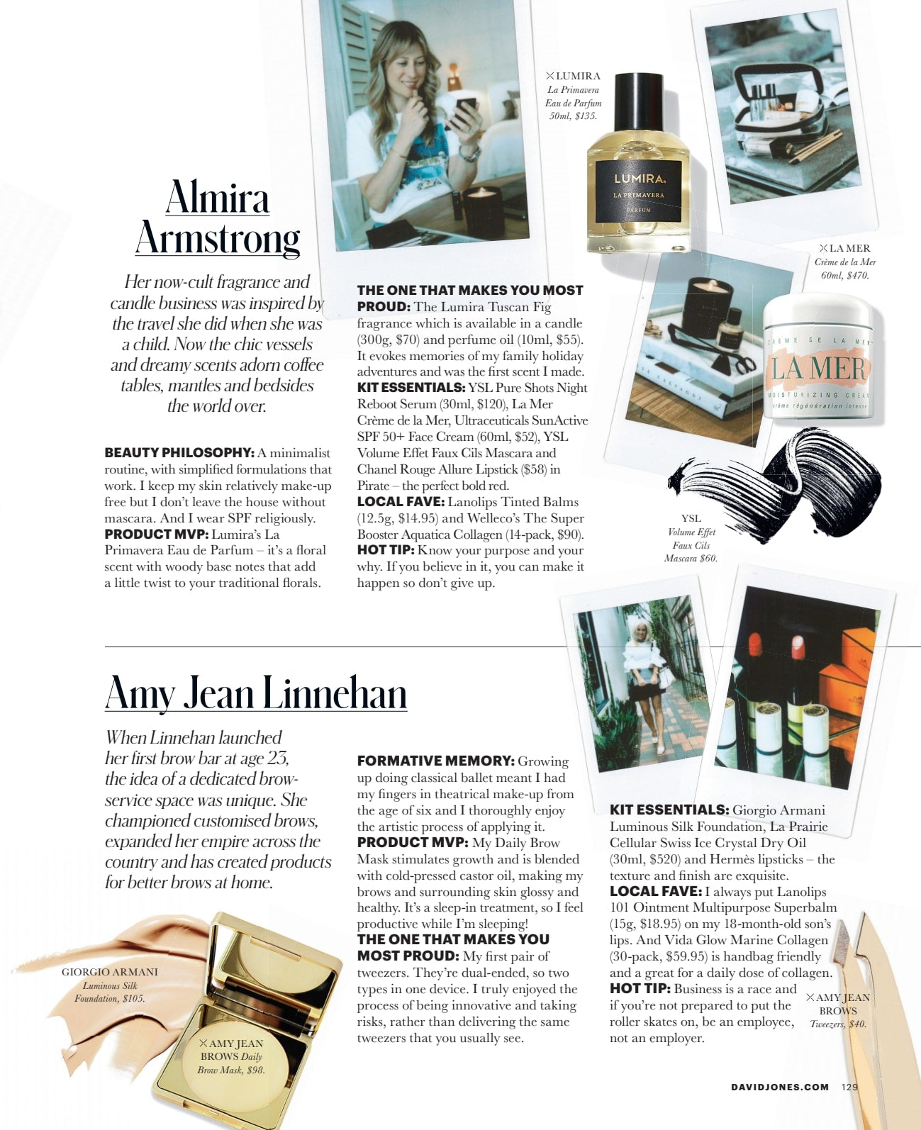 JONES Magazine interview with Almira Armstrong for International Women's Day