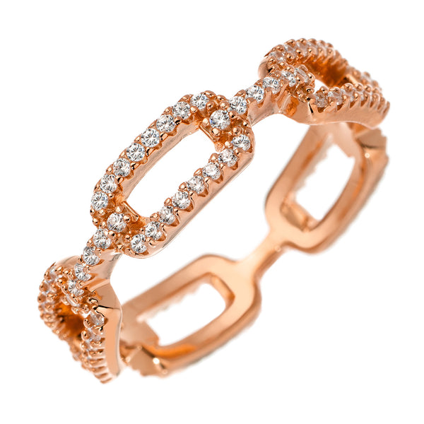 Rose-Gold Link Ring