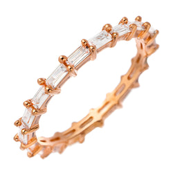 Rose-Gold Baguette Stackable