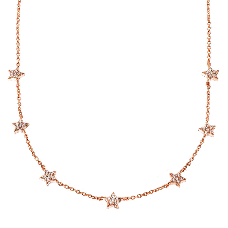 Rose-Gold Star Choker