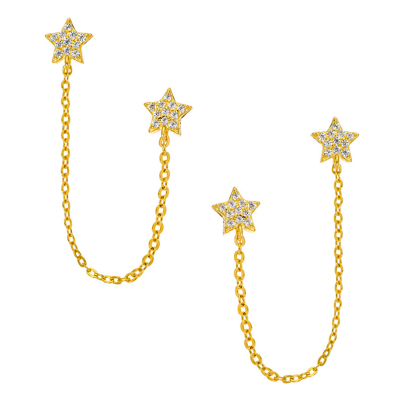 Star Chain Stud