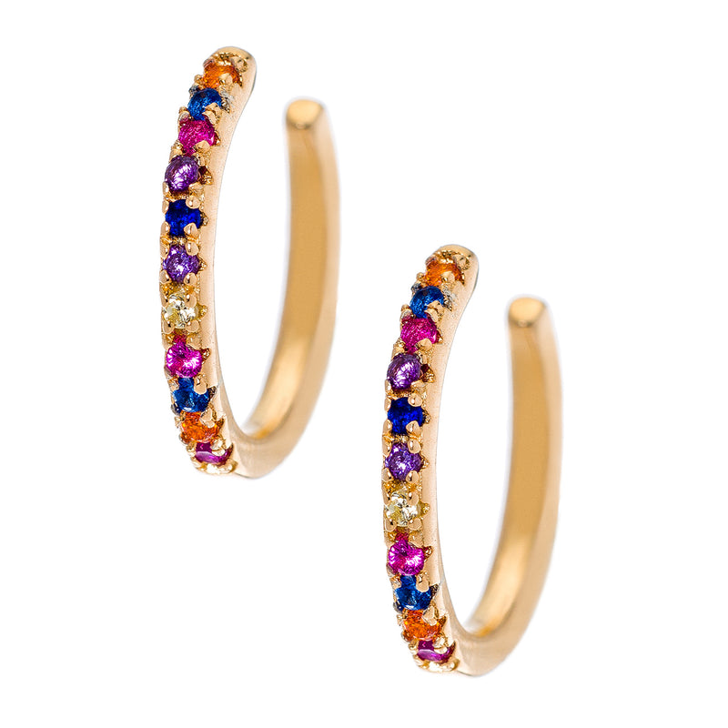 Gold Rainbow Simple CZ Cuff