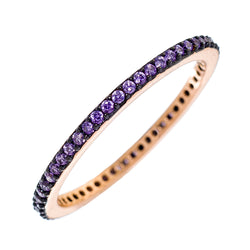 Purple CZ Stackable