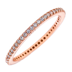 Rose-Gold CZ Stackable