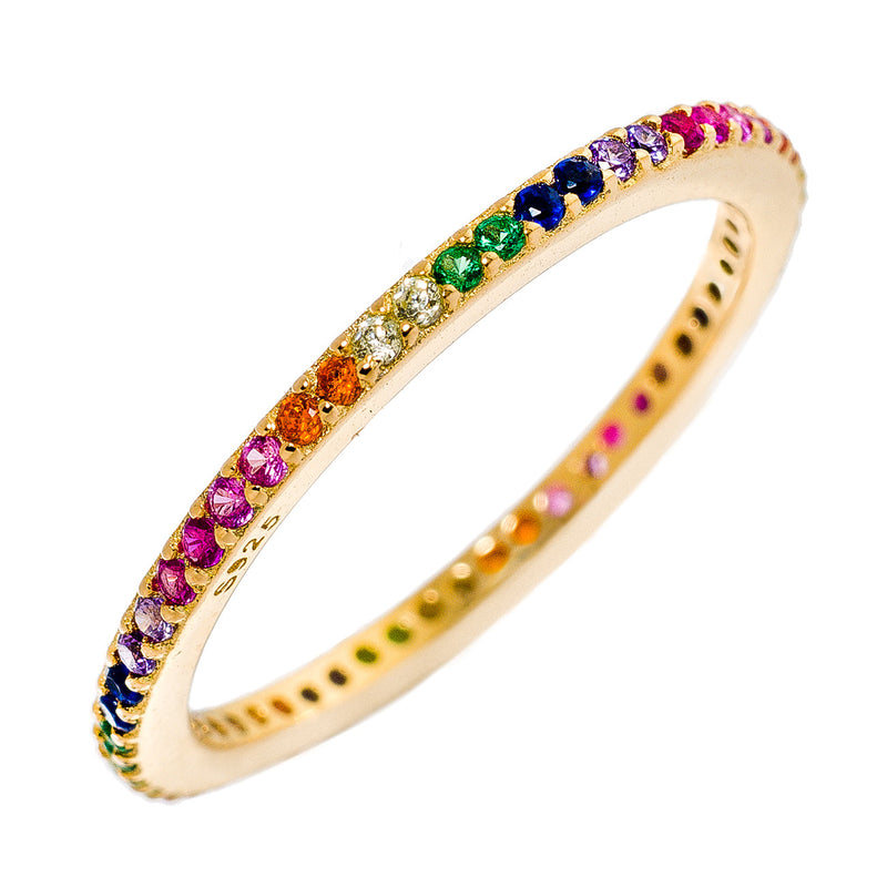 Rainbow Gold CZ Stackable