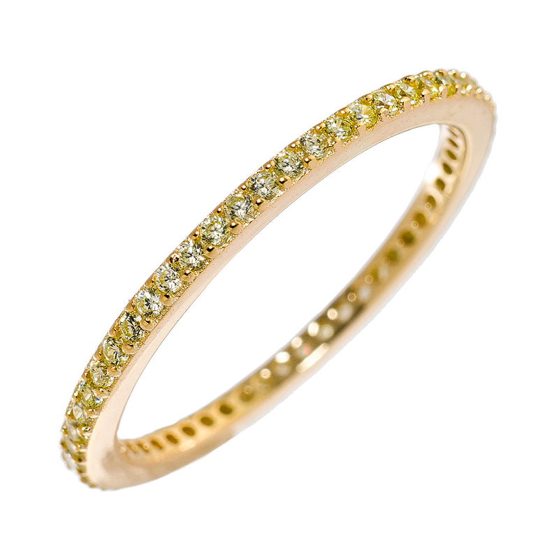 Gold CZ Stackable