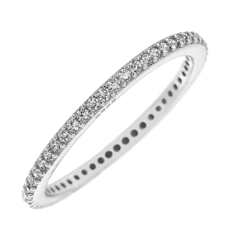 Silver CZ Stackable