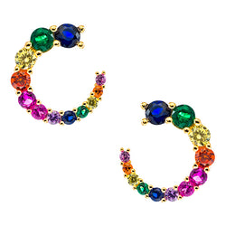 Curved Rainbow Earring