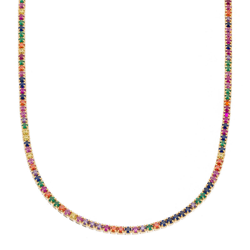 Gold Rainbow Tennis Choker