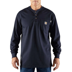 Flame-Resistant Cotton Long-Sleeve Henley