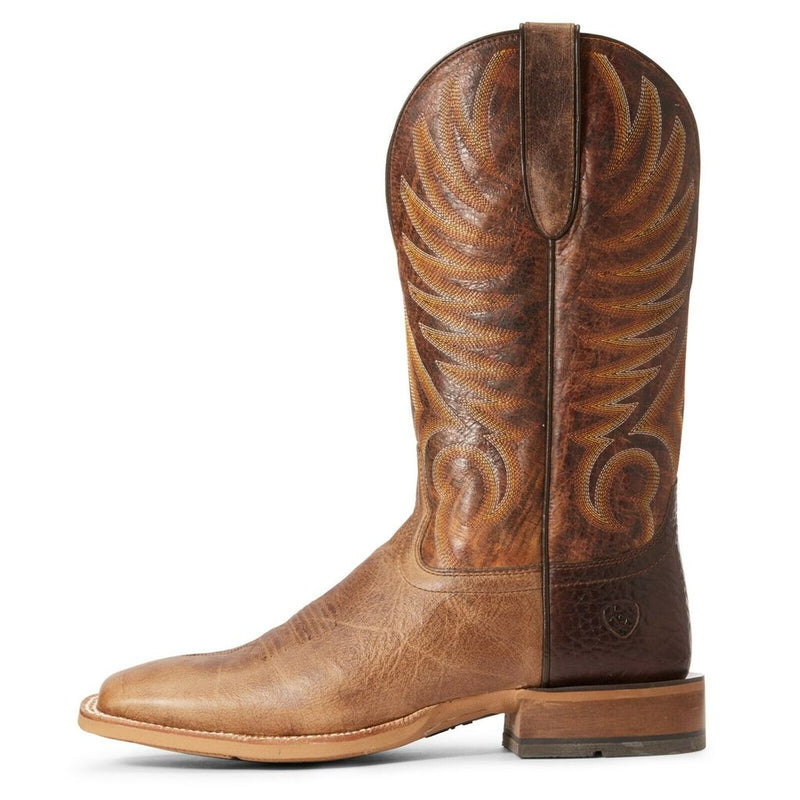 Ariat® Men's Toledo Natural Crunch Wide Square Toe Boots 10034089
