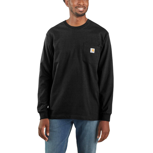 Loose Fit Heavyweight Long-Sleeve Pocket T-Shirt K126