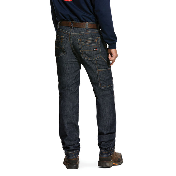 FR M4 Low Rise Stretch Duralight Workhorse Stackable Straight Leg Jean Dark Wash/Rinse