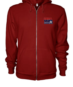 USA Drinking Team Zip Hoodie Chesty