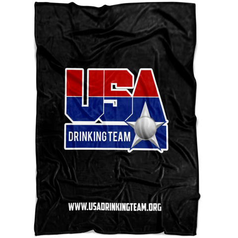 USA Drinking Team Black Blanket