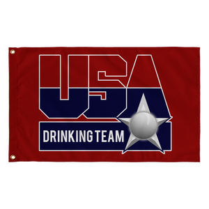 USA Drinking Team Flag Red