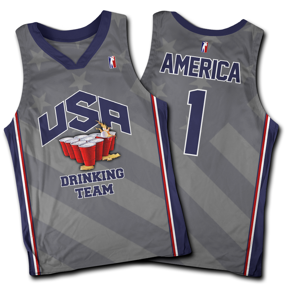 USA Drinking Team Grey