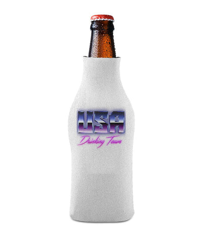 USA Drinking Team Retro Btl Koozie Pink