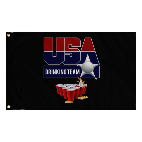 Pong Champions Flag Black